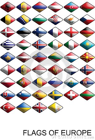 Flags Of Europe, Countries, Nations, Colours