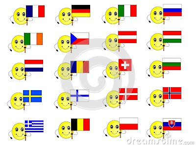 Flags Of European States 1 Stock Photos - Image: 25886923