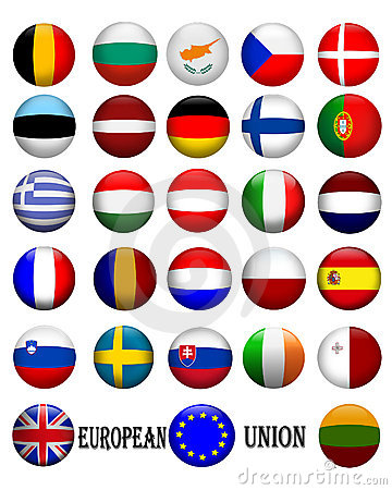 Flags of The European Union 3D