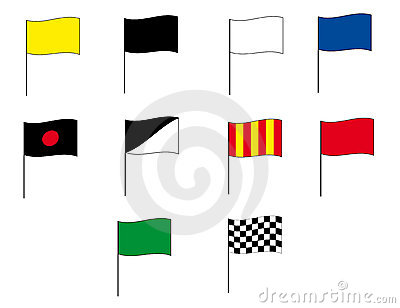 Flags of Formula 1 and Moto GP