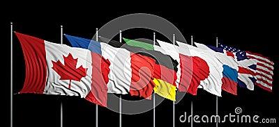 Flags of G8 members