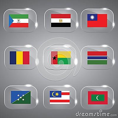 Flags Glass Set