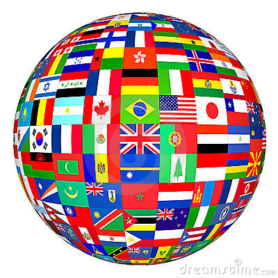 Flags Globe Royalty Free Stock Photo