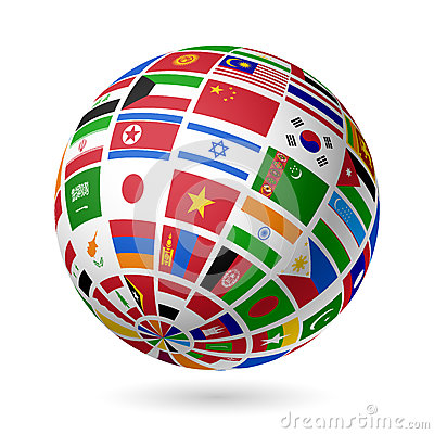 Free Flags Globe. Asia. Stock Photos - 26370733