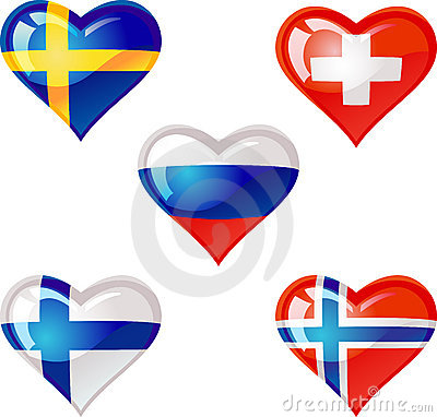 Flags heart