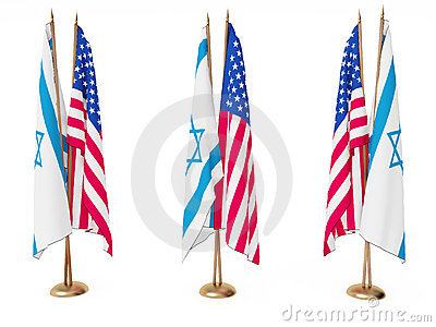 Flags of Israel and the United State