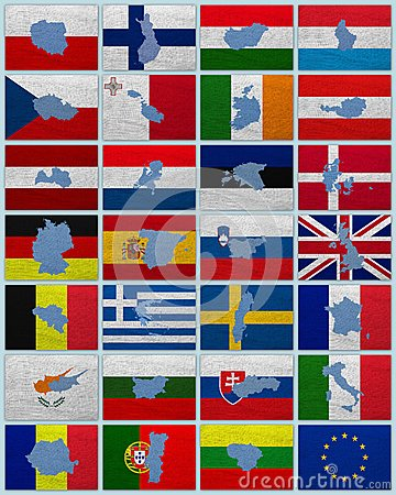 Flags and maps of European Union