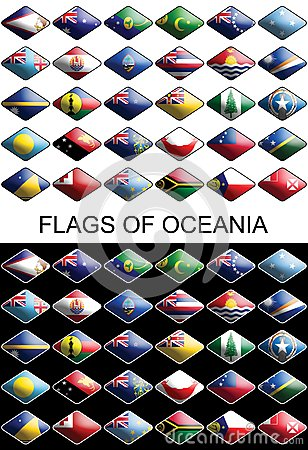 Flags Of Oceania, Countries, Nations, Colours