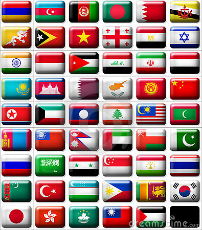 Free Flags Of Asia Stock Image - 8051811