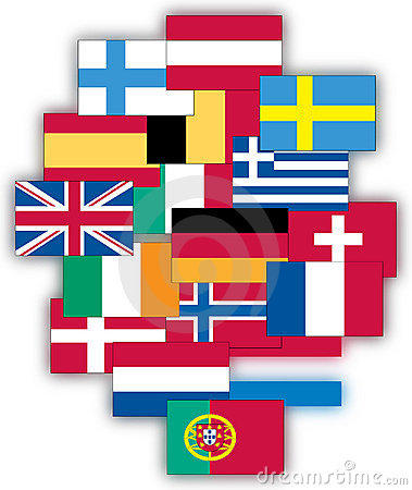 Free Flags Of Europe Royalty Free Stock Image - 11811526