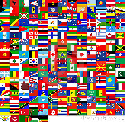 Free Flags Of The World (240 Flags) Royalty Free Stock Photo - 541435