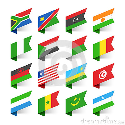 Free Flags Of The World, Africa Royalty Free Stock Photography - 52594347