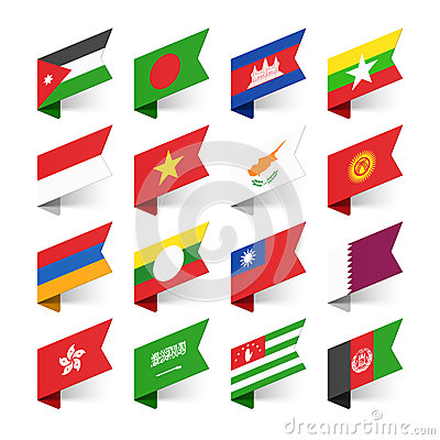 Free Flags Of The World, Asia Royalty Free Stock Images - 52594129