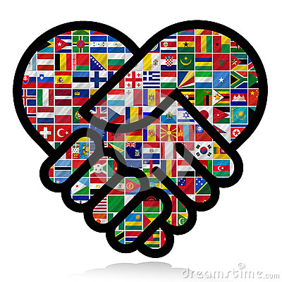 Free Flags Of The World With Icon Set Royalty Free Stock Photo - 26889235