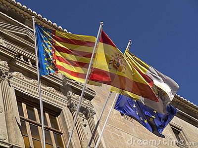 Flags - Orihuela - Costa Blanca - Spain