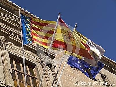 Flags - Orihuela - Costa Blanca - Spain