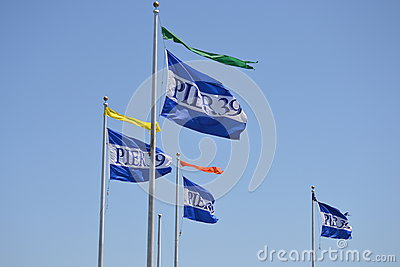 Flags at Pier 39