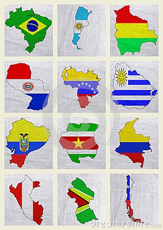 Flags of South American countries
