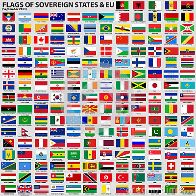 Flags of Sovereign States & EU