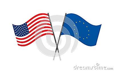 Flags. Union metaphor