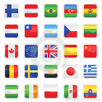 Free Flags Vector 1 Stock Image - 5873901