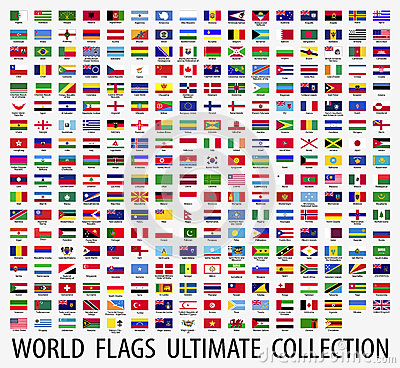 Flags vector of the world Vector Illustration