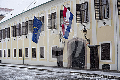 Flags in the winter