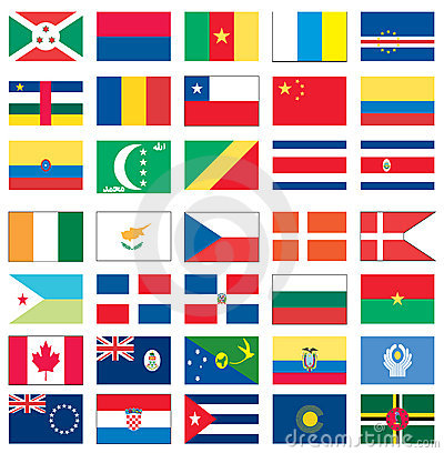 Flags of the world 1 of 8