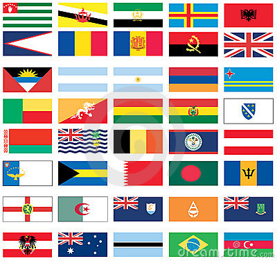 Flags of the world 2 of 8