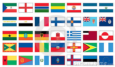Flags of the world 3 of 8