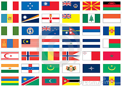 Flags of the world 5 of 8