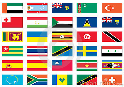 Flags of the world 7 of 8