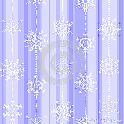 Flake winter seamless pattern