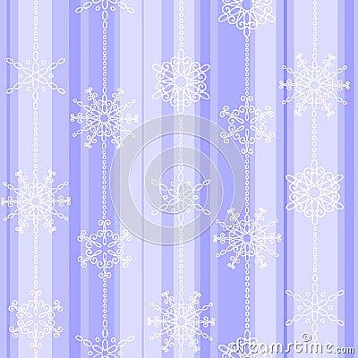 Flake winter seamless pattern