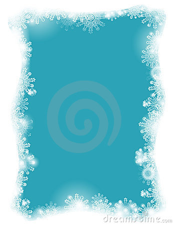 A flaky frame on a blue background