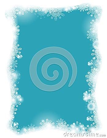A flaky frame on a blue background