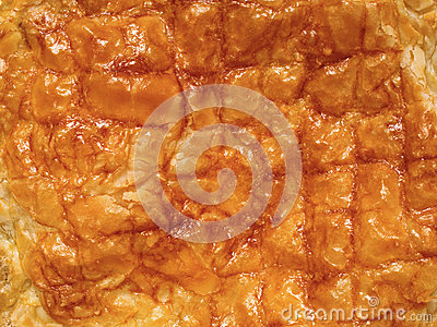 Flaky Golden Puff Pastry Pie Crust Food Background Stock ...