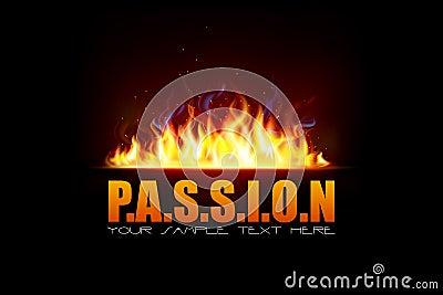 Flama do incêndio que mostra a paixão