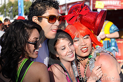 Flamboyant Group at San Francisco Pride Editorial Photo