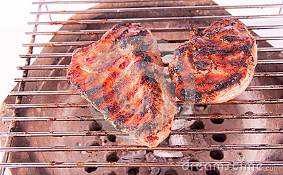 Flame Broiled Steak On A Grill Stock Image - Image: 30887951