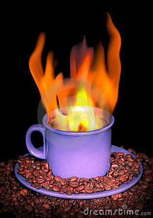Flame of coffee