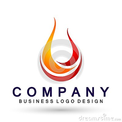 Free Flame Fire Logo, Modern Flames Logotype Symbol Icon Design Vector On White Background Stock Images - 137398114