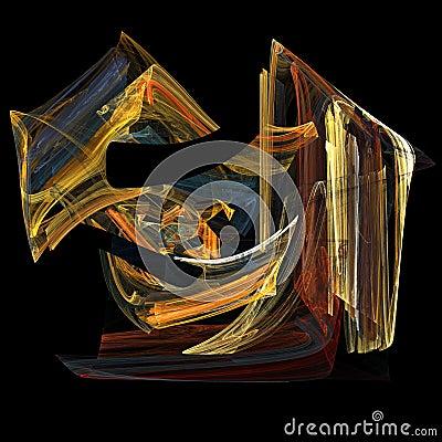 Flame fractal art image