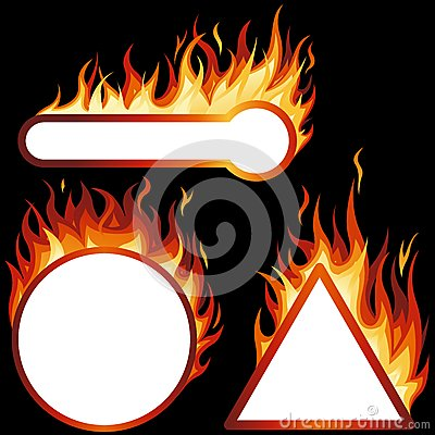 Flame Frames Stock Photo - Image: 25942380