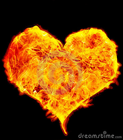 Flame Heart on Black
