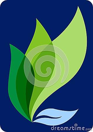 Flame leaf Vector Illustration