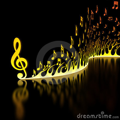 Flame of Musical Notes