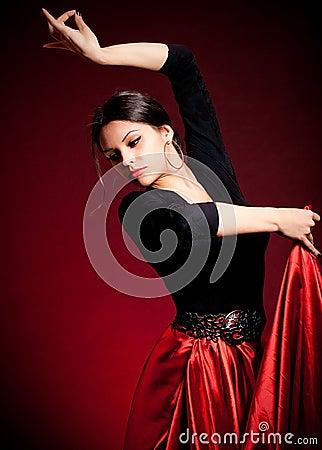 Free Flamenco Carmen Beautiful Woman Royalty Free Stock Image - 24689386