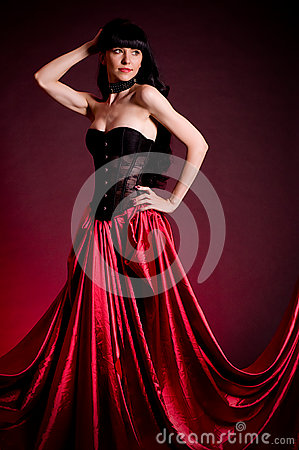 Flamenco Carmen beautiful woman in dress