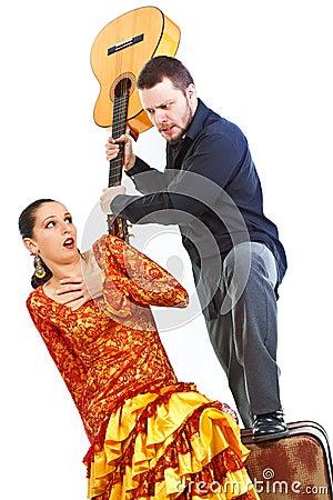 Flamenco couple quarrelling